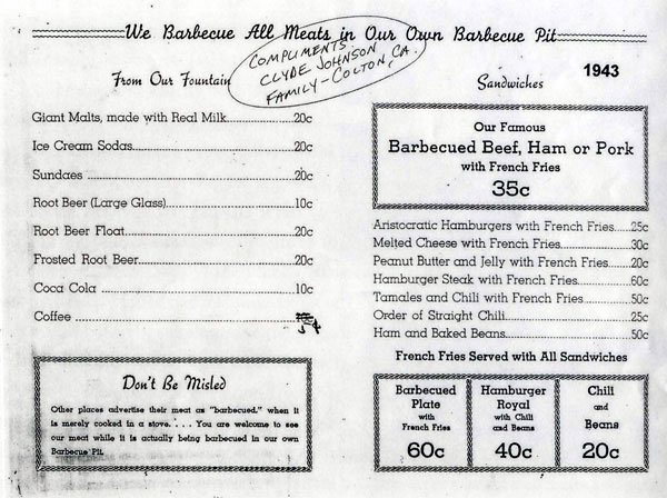 original McDonald's menu