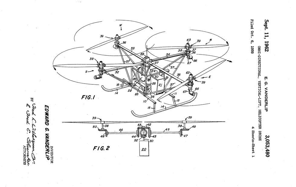 Quadroptor patent illustration