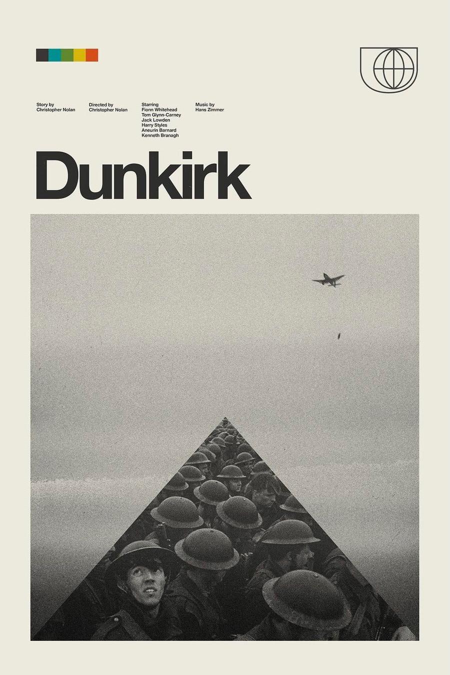 retro modern movie poster for Dunkirk