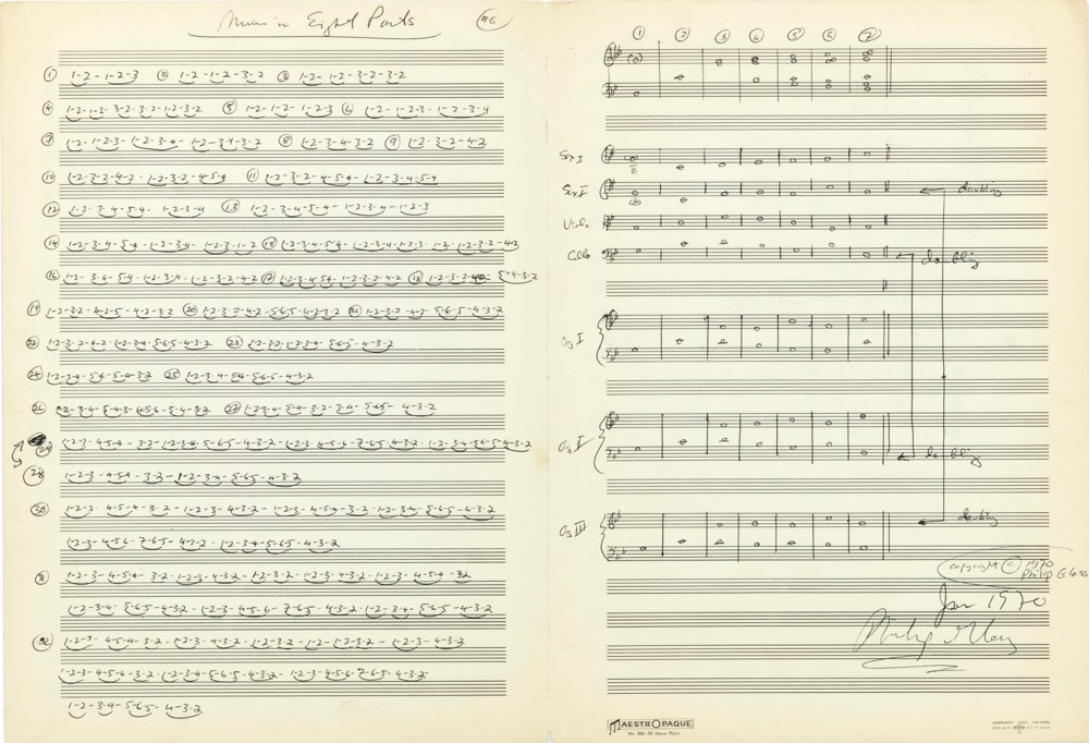 Philip Glass: Music In Eight Parts score
