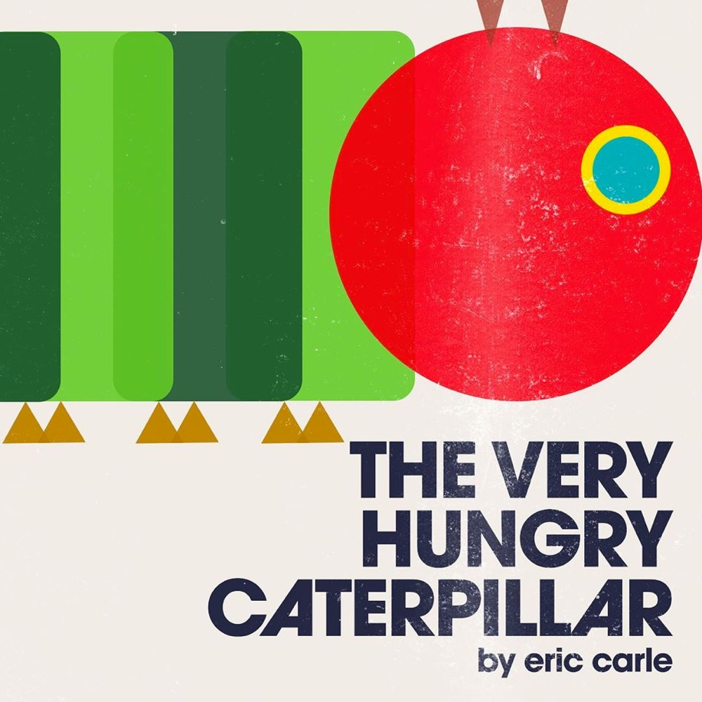 Modernist cover for The Very Hungry Caterpillar