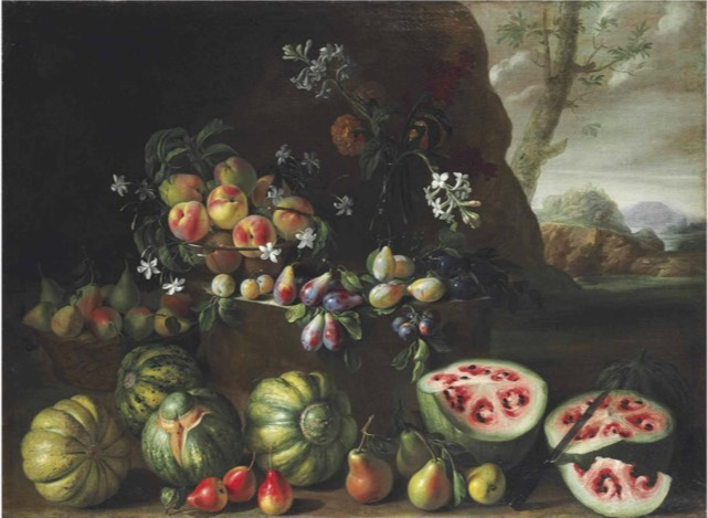Renaissance painting shows how watermelons looked before selective breeding
