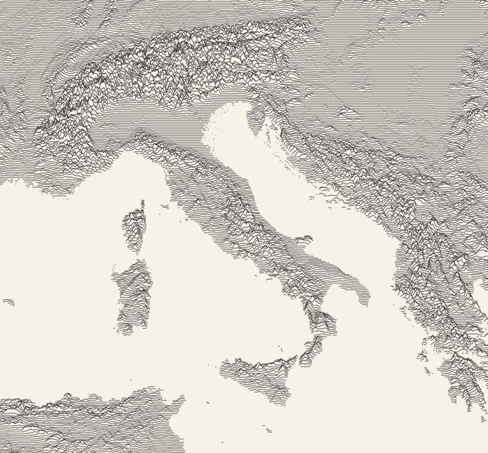 Ridgeline Maps of the World