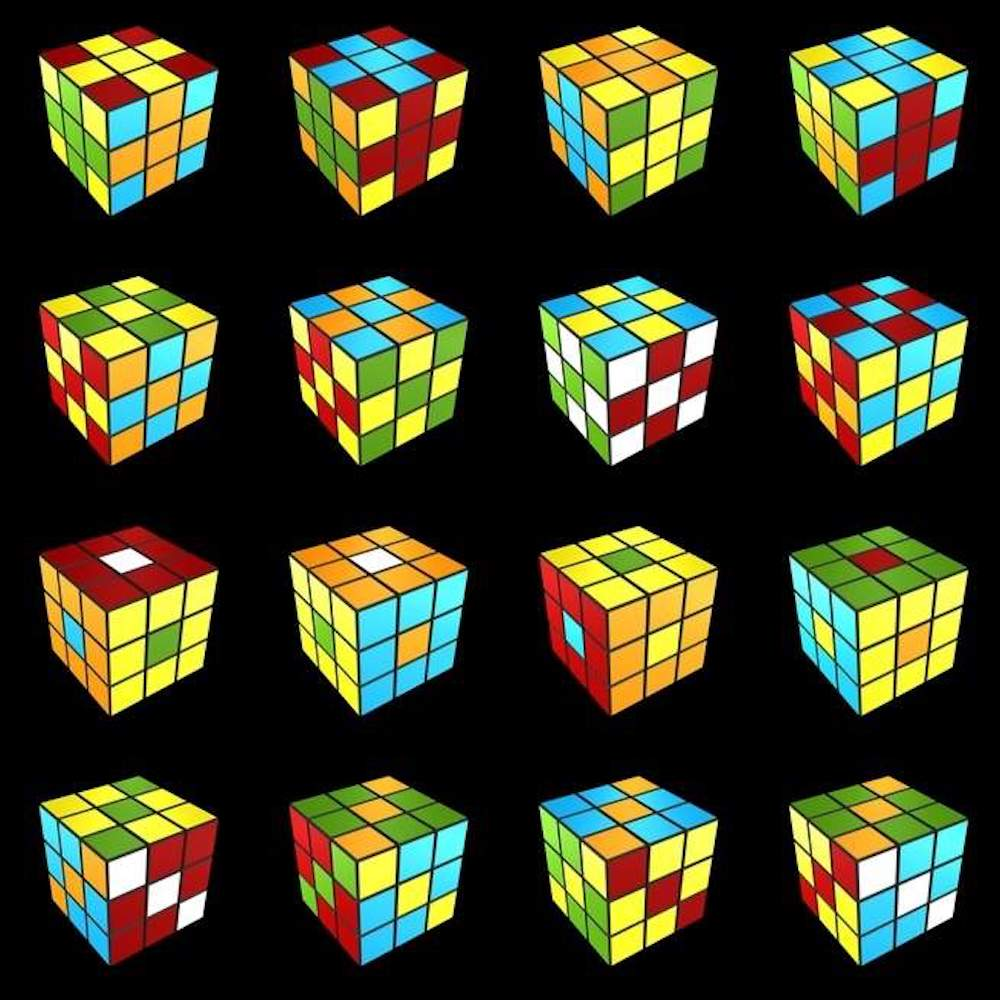 Pattern To Solve Rubik's Cube Interesting Decoration