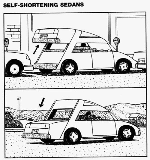 Self Shortening Car
