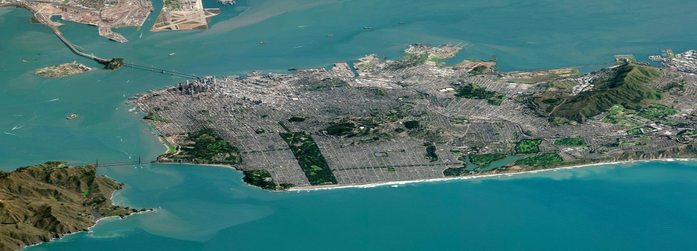 Gorgeous Low-Angle Satellite Photo of San Francisco