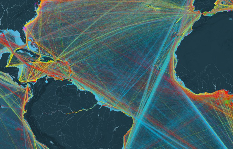 Shipping Map Infoviz
