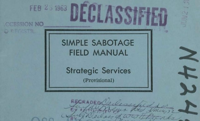 """Timeless tips for """"simple sabotage"""" from the CIA"""