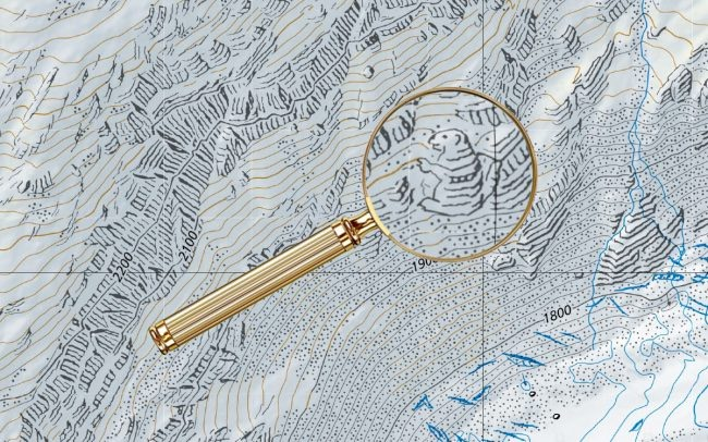 Hidden drawing in a Swiss map