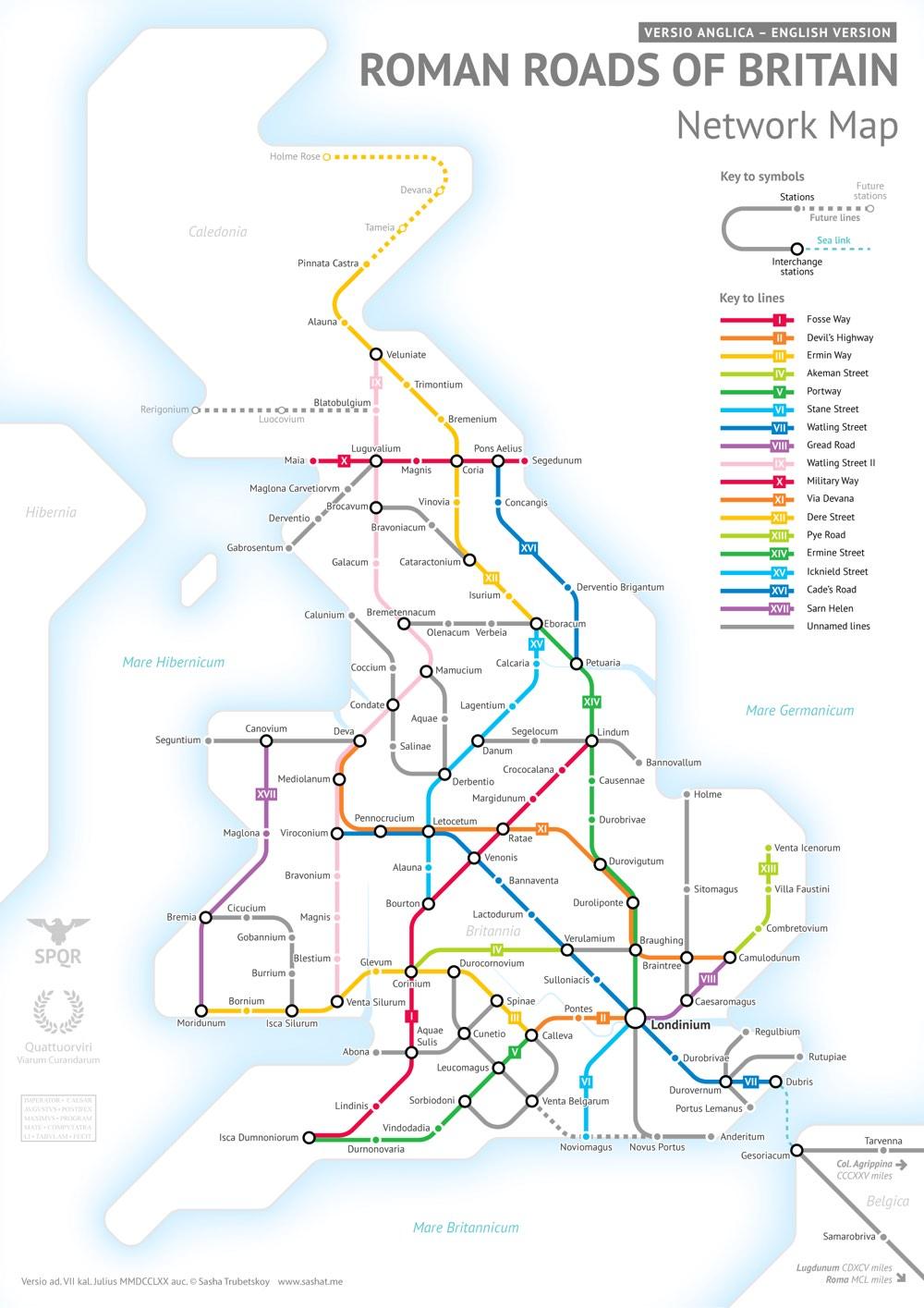 Trubetskoy Britain Map