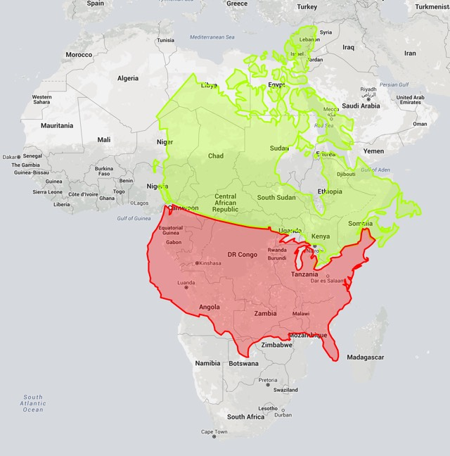 True Size Map