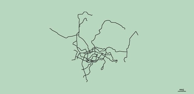 Unlabeled subway maps