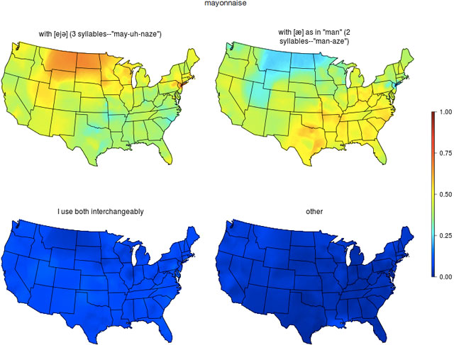 Maps Of US Linguistic Patterns - Man in the us map
