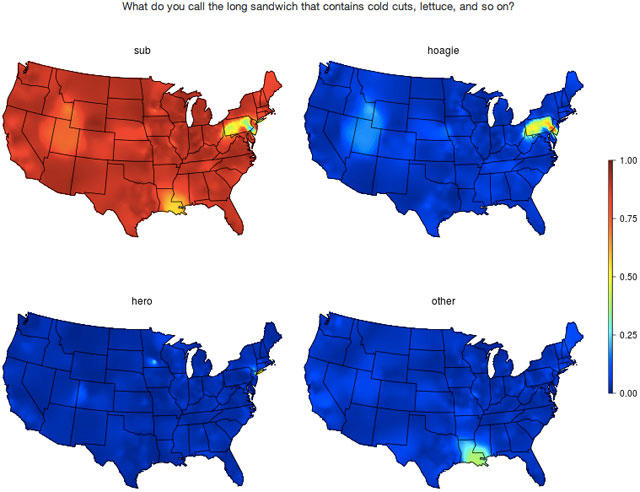 Maps Of US Linguistic Patterns - Map of us blue