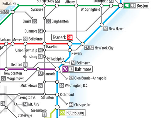 US Interstate Tube map