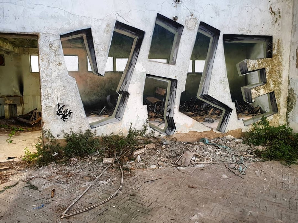 Graffiti That Helps You See Through Walls