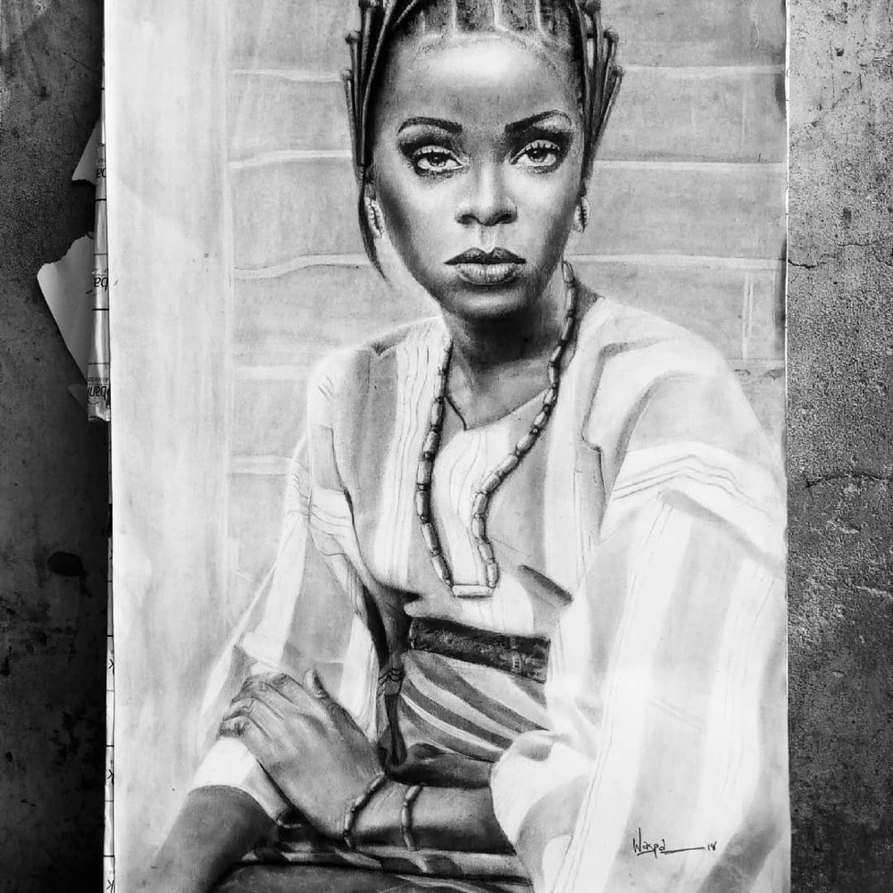 Olamilekan who goes by waspa on instagram is inspired by michelangelo and fellow nigeria artist arinze stanley egbengwu and is a full on prodigy in my
