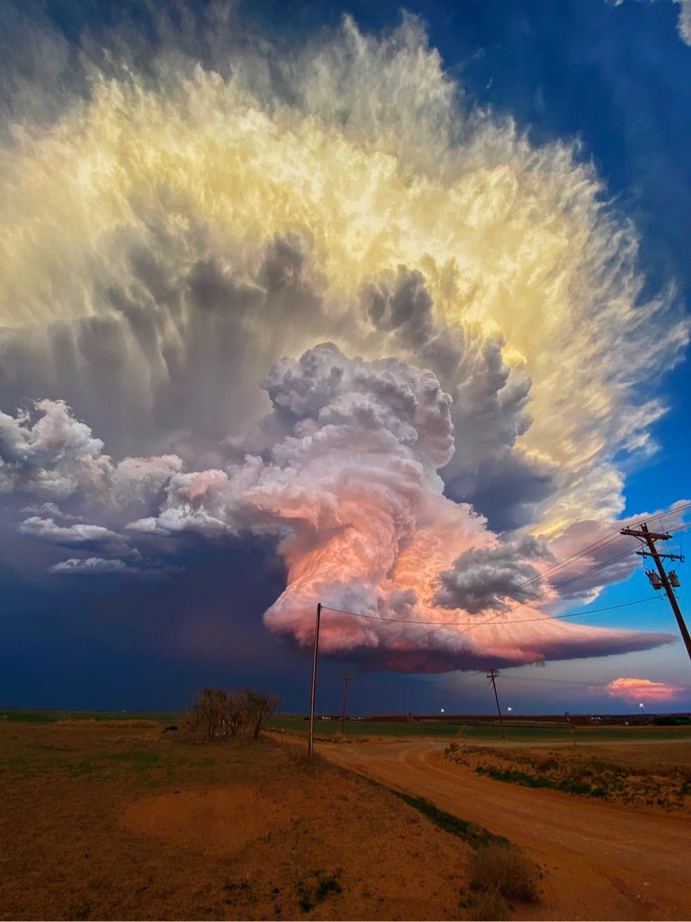 a colorful West Texas storm cloud