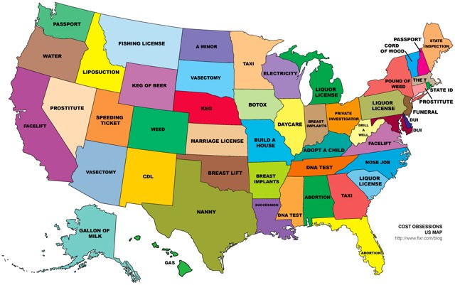 50 State Map Desire map of the 50 states 50 State Map