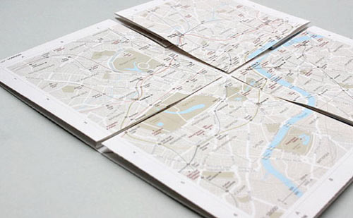zoomable paper map of london